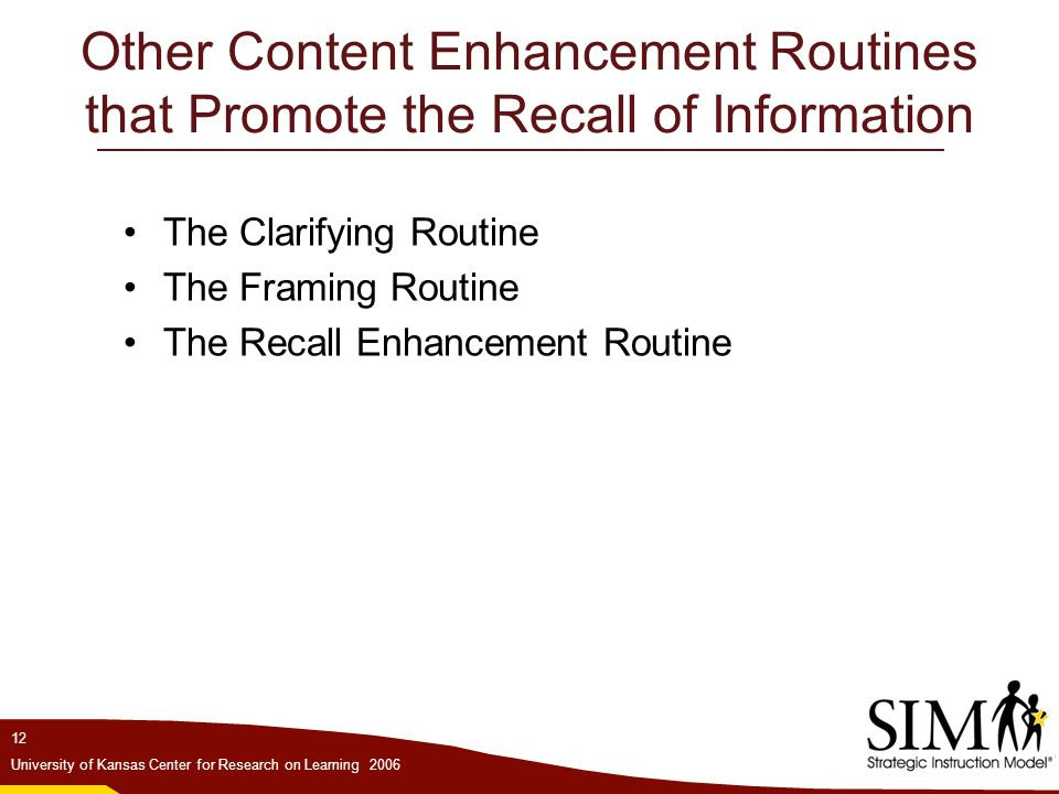 Other Content Enhancement Routines that Promote the Recall of Information