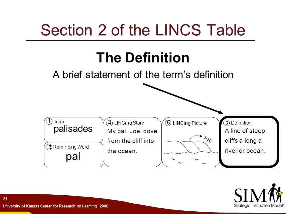 Section 2 of the LINCS Table