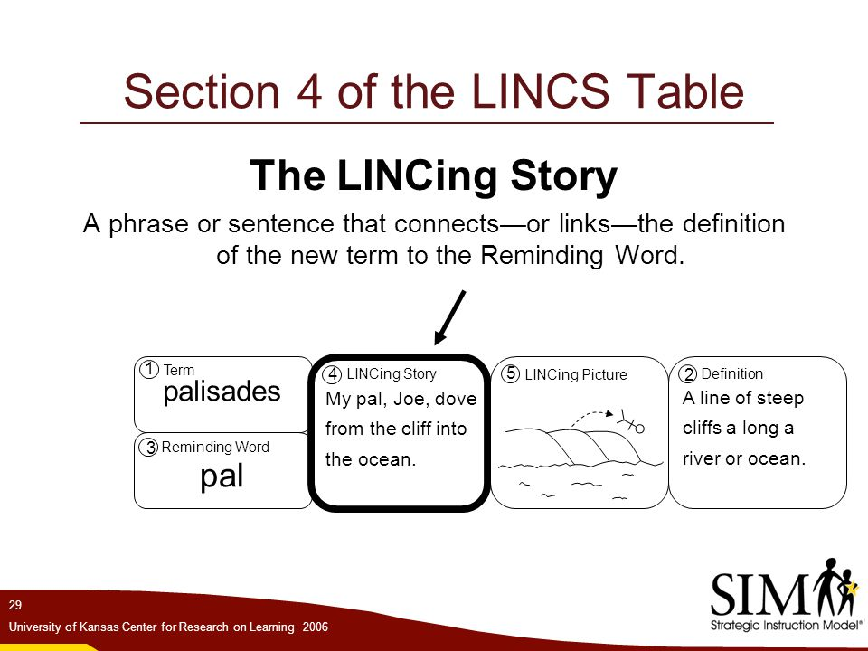 Section 4 of the LINCS Table