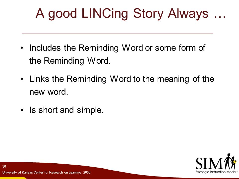 A good LINCing Story Always …