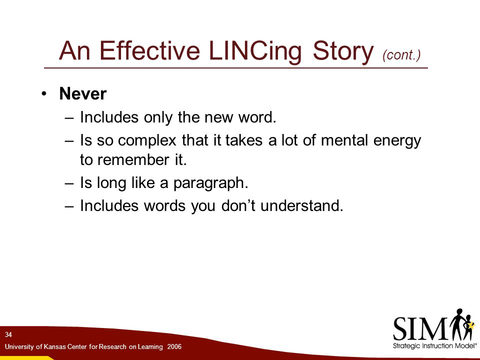 An Effective LINCing Story (cont.)