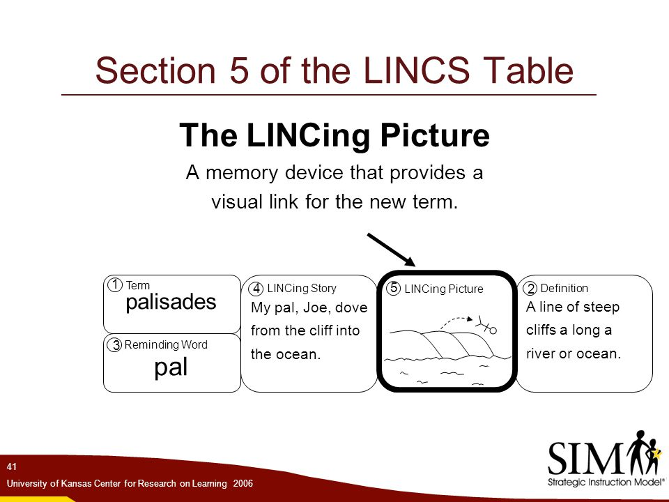 Section 5 of the LINCS Table