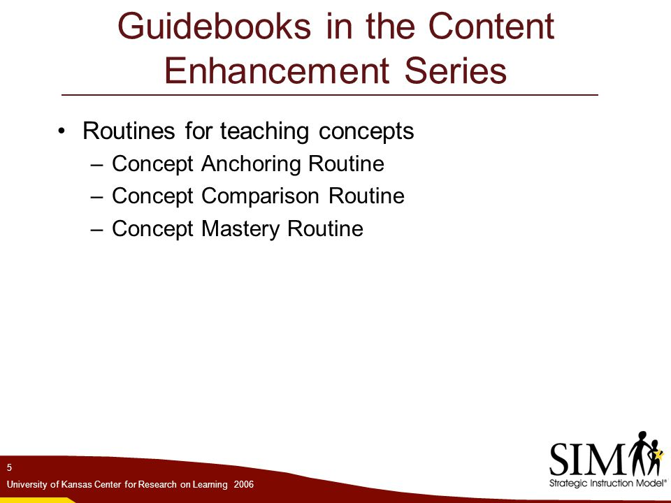 Guidebooks in the Content Enhancement Series