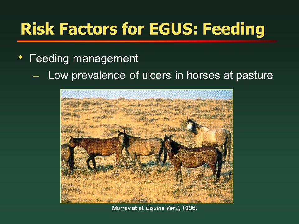 Risk Factors for EGUS: Feeding