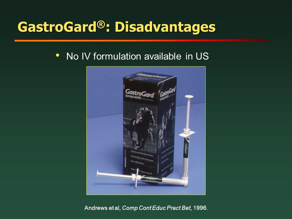 GastroGard®: Disadvantages