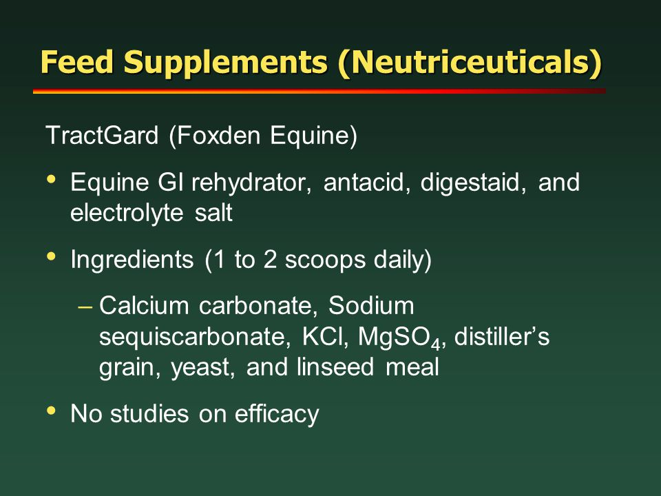 Feed Supplements (Neutriceuticals)
