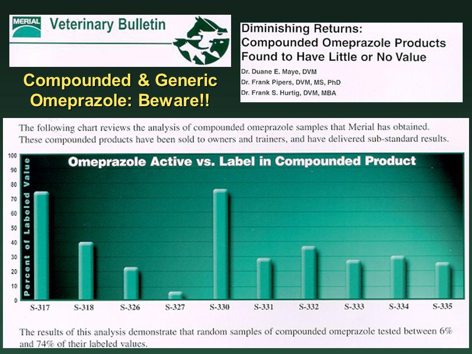 Compounded & Generic Omeprazole: Beware!!