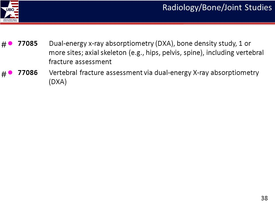 Radiology/Bone/Joint Studies