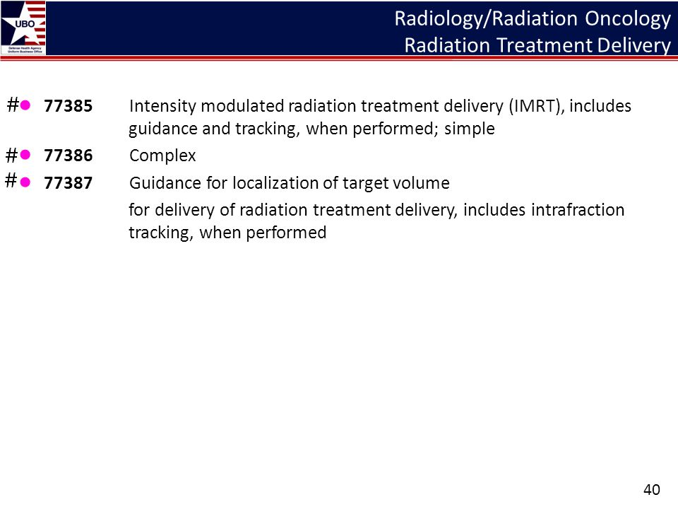 Radiology/Radiation Oncology Radiation Treatment Delivery