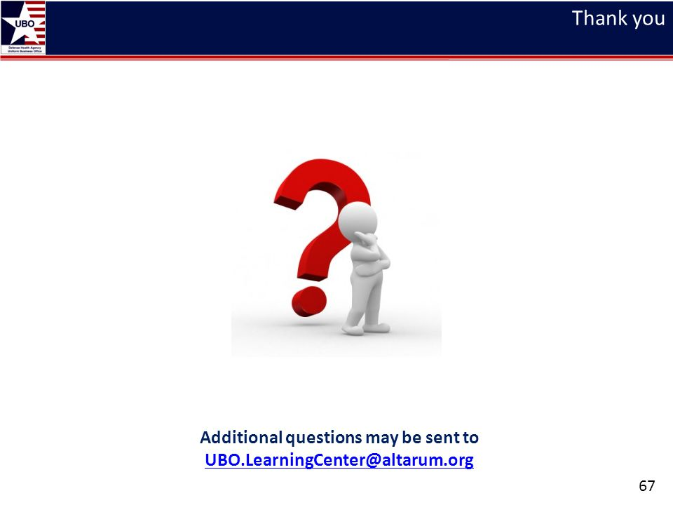 Additional questions may be sent to UBO.LearningCenter@altarum.org