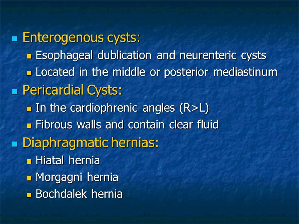 Diaphragmatic hernias: