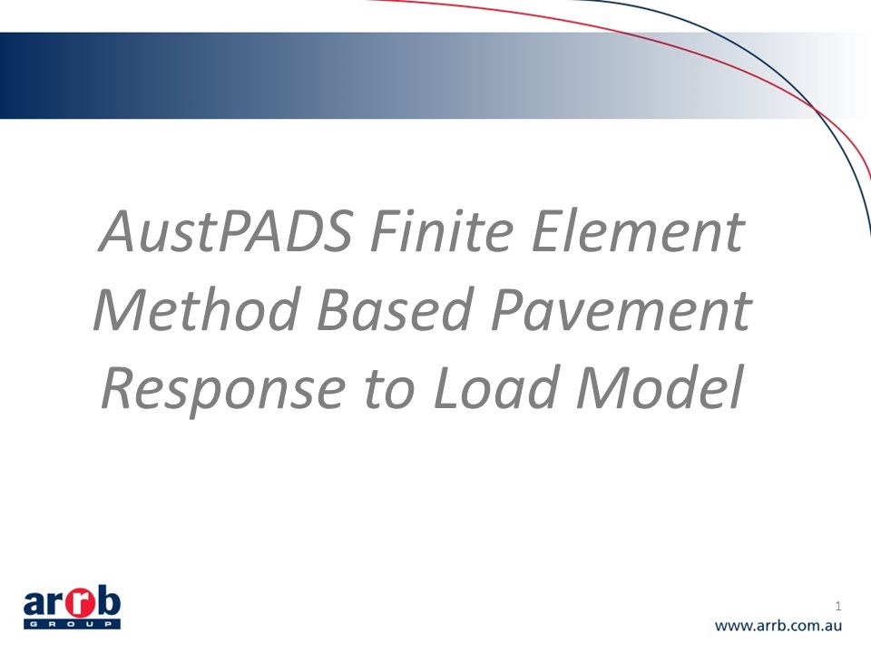 AustPADS Finite Element Method Based Pavement Response to Load Model
