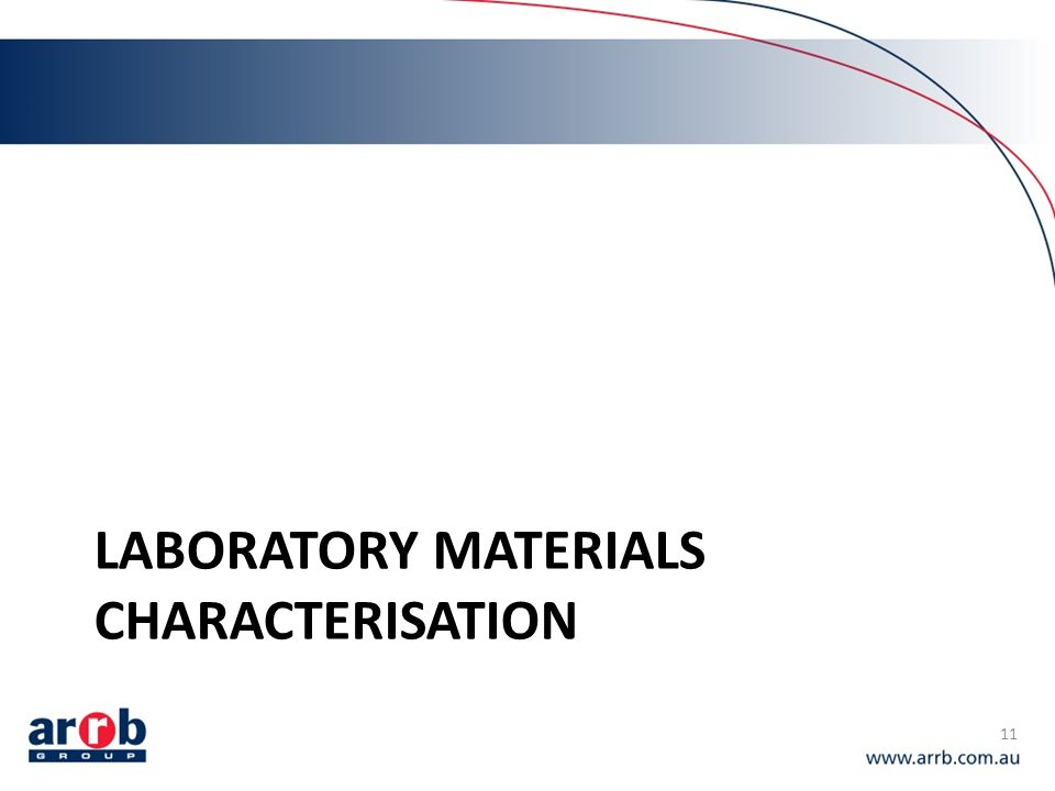 Laboratory materials characterisation