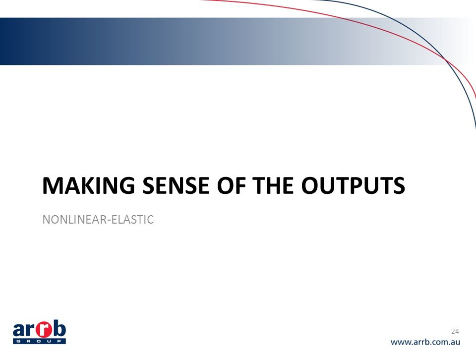 Making sense of the outputs