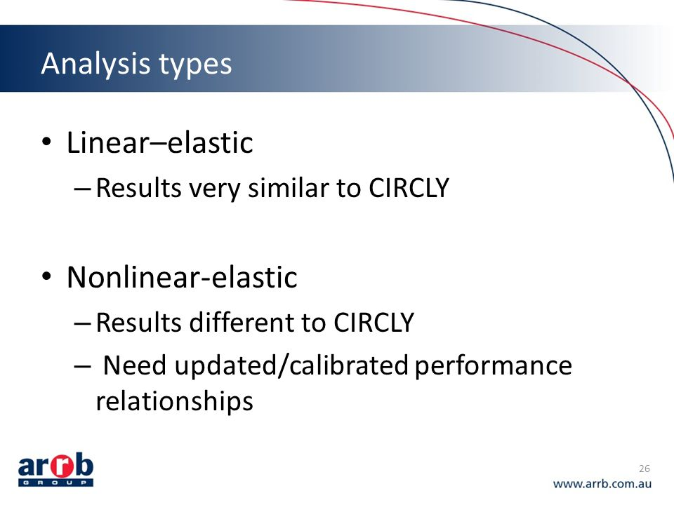 Analysis types Linear–elastic Nonlinear-elastic