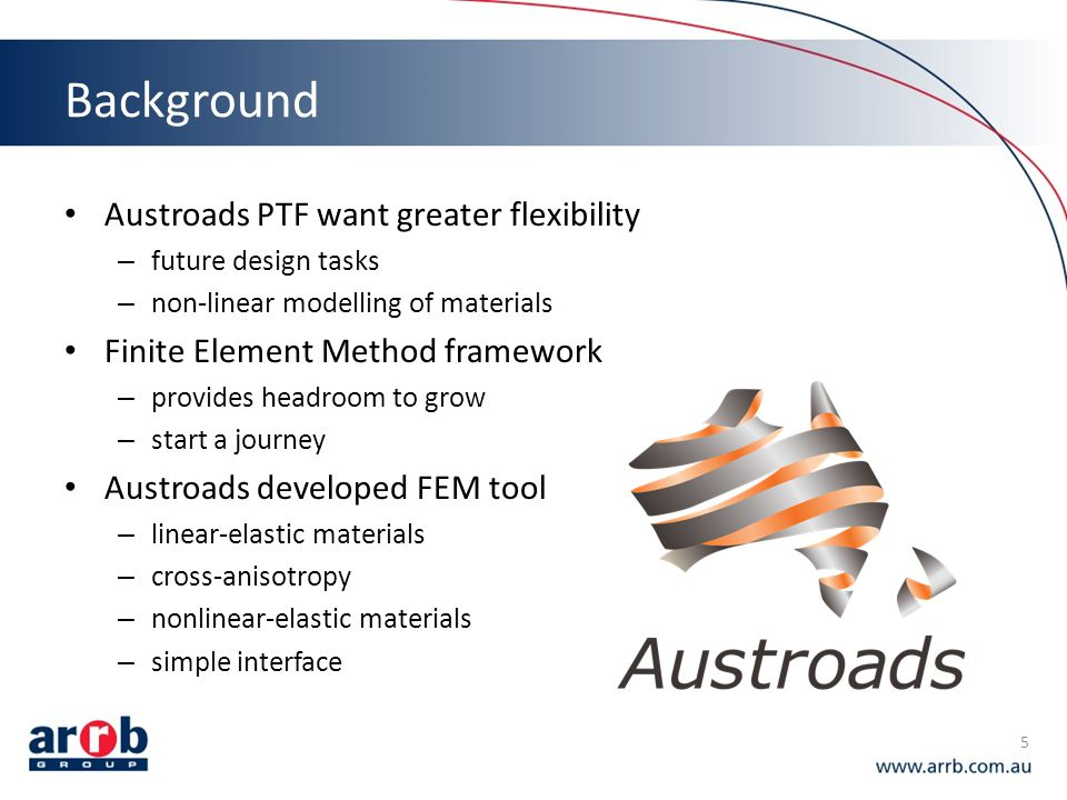 Background Austroads PTF want greater flexibility