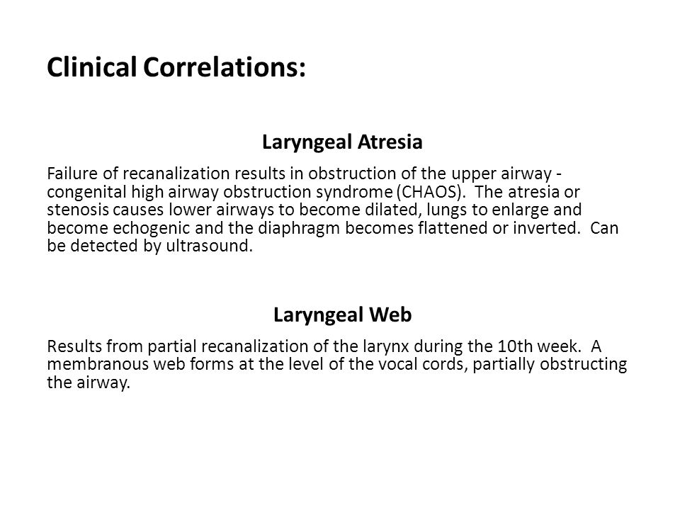 Clinical Correlations: