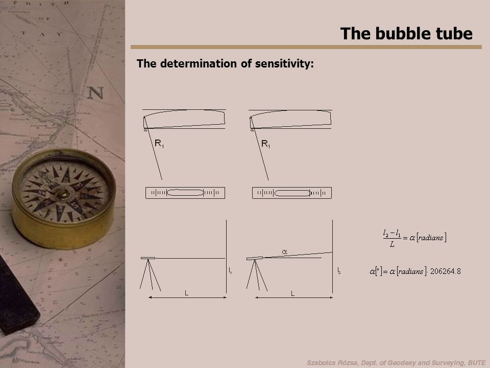 The bubble tube The determination of sensitivity: