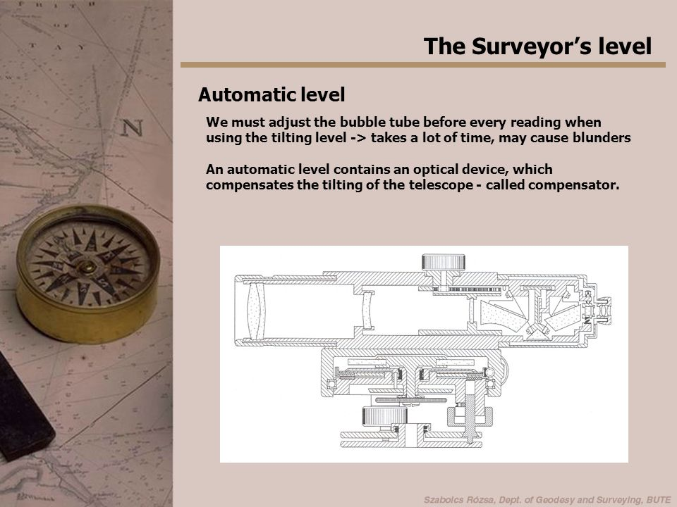 The Surveyor's level Automatic level
