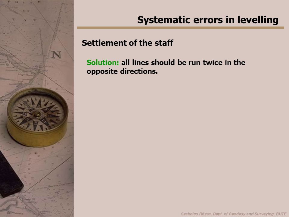 Systematic errors in levelling