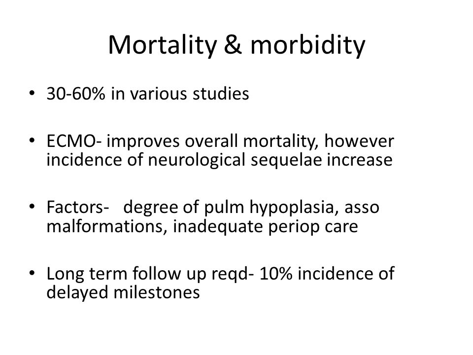 Mortality & morbidity 30-60% in various studies