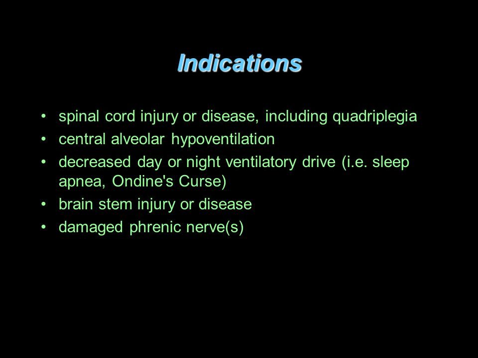 Indications spinal cord injury or disease, including quadriplegia