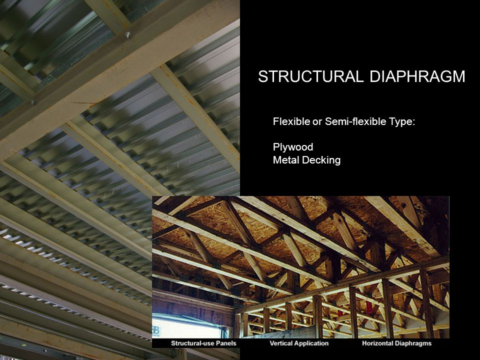 STRUCTURAL DIAPHRAGM Flexible or Semi-flexible Type: Plywood