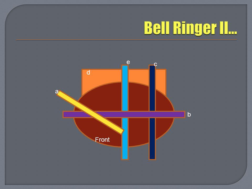 Bell Ringer II… e c d a b Front