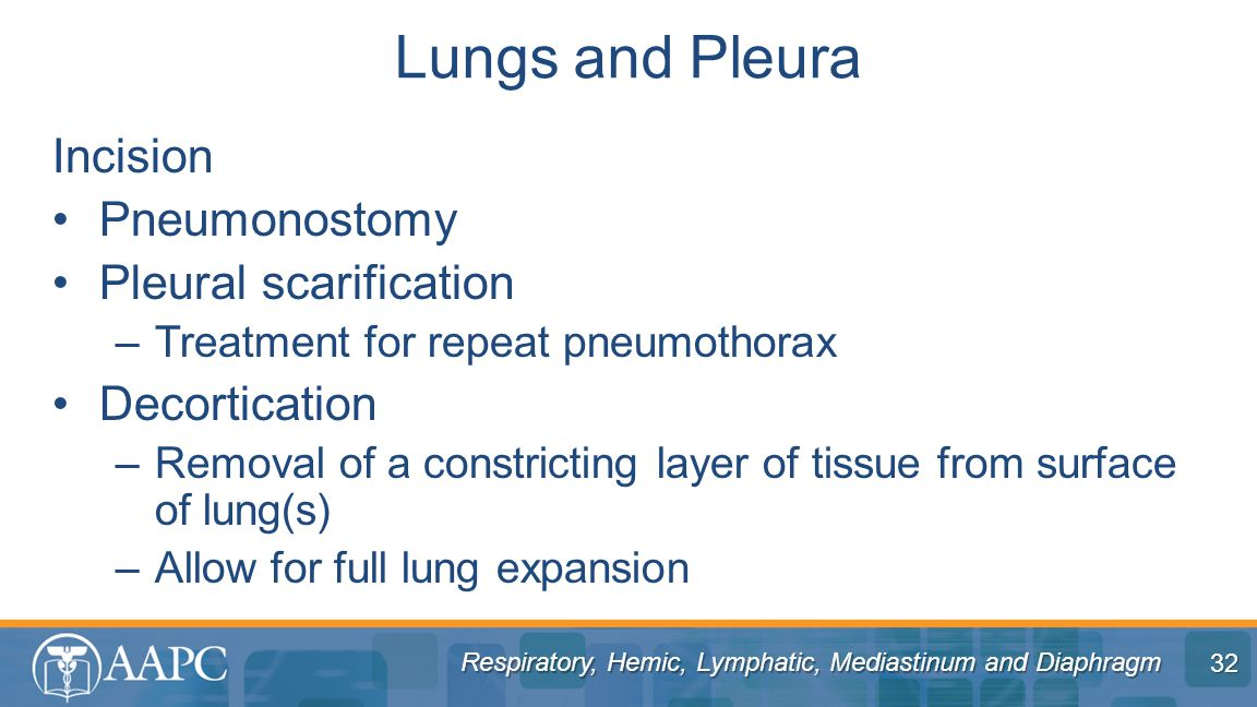 Lungs and Pleura Incision Pneumonostomy Pleural scarification