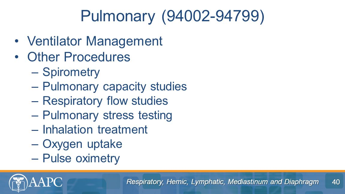 Pulmonary (94002-94799) Ventilator Management Other Procedures