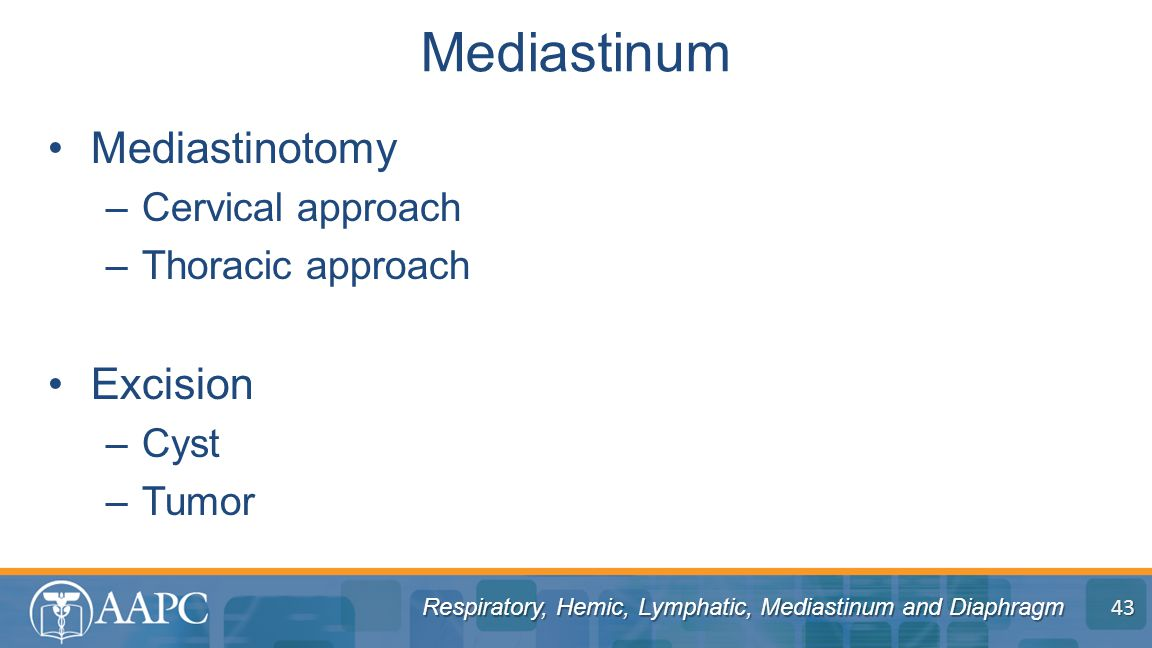 Mediastinum Mediastinotomy Excision Cervical approach