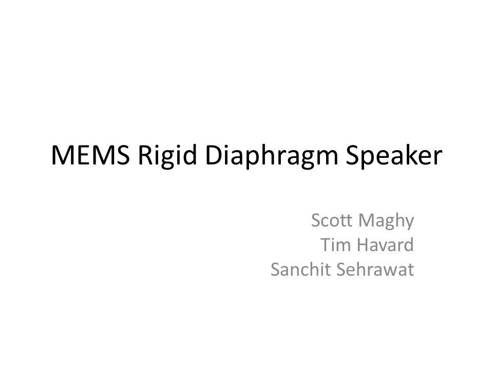 MEMS Rigid Diaphragm Speaker