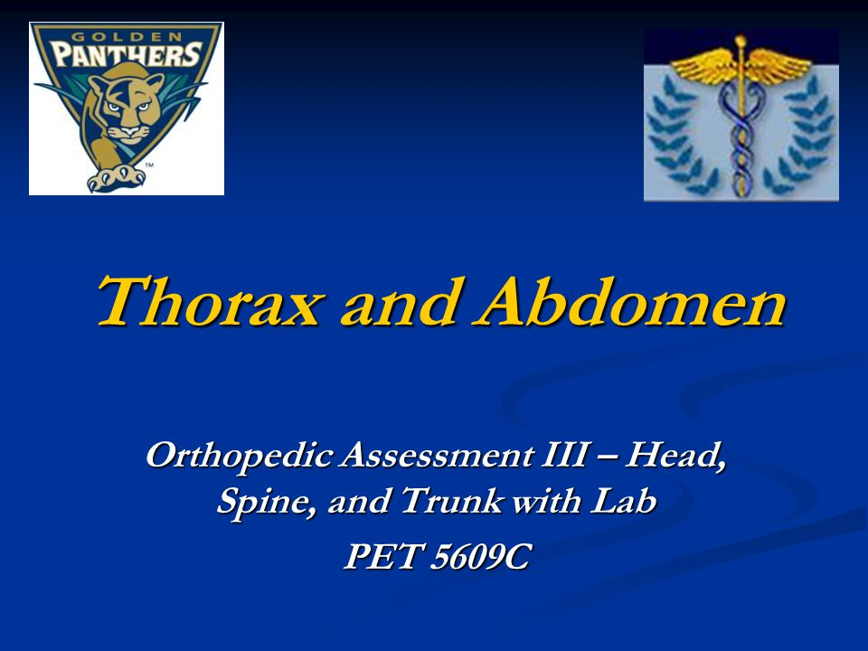 Orthopedic Assessment III – Head, Spine, and Trunk with Lab PET 5609C