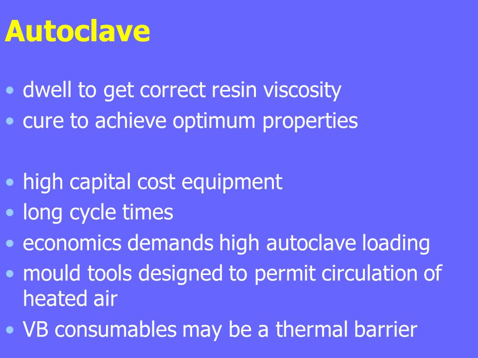 Autoclave dwell to get correct resin viscosity