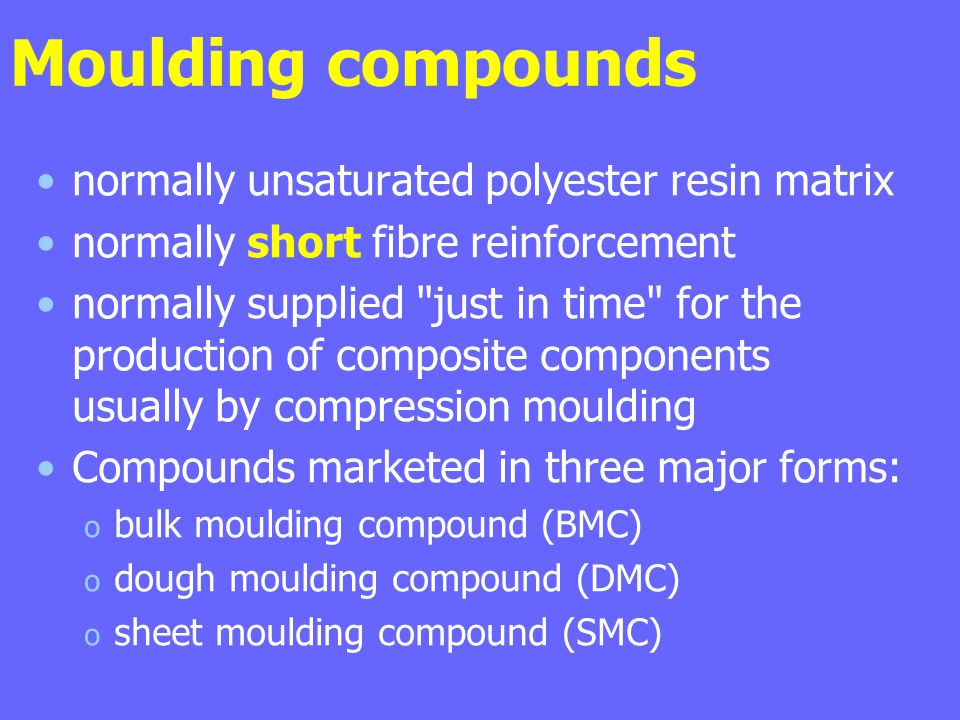 Moulding compounds normally unsaturated polyester resin matrix