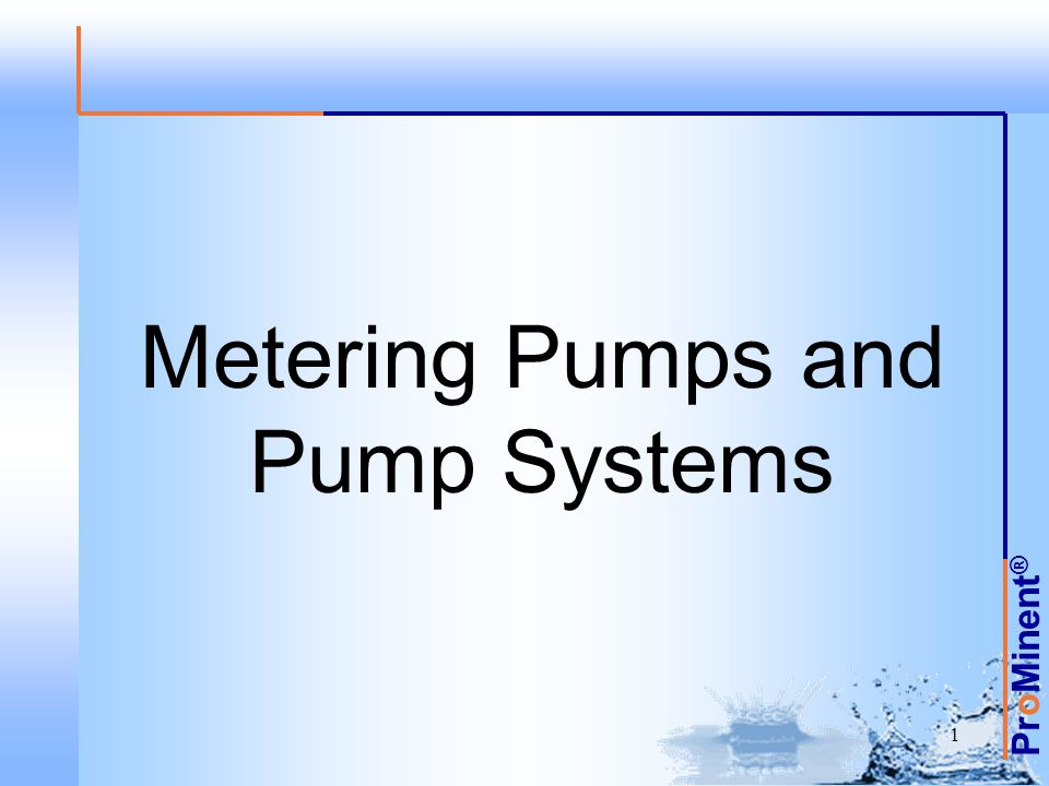 Metering Pumps and Pump Systems