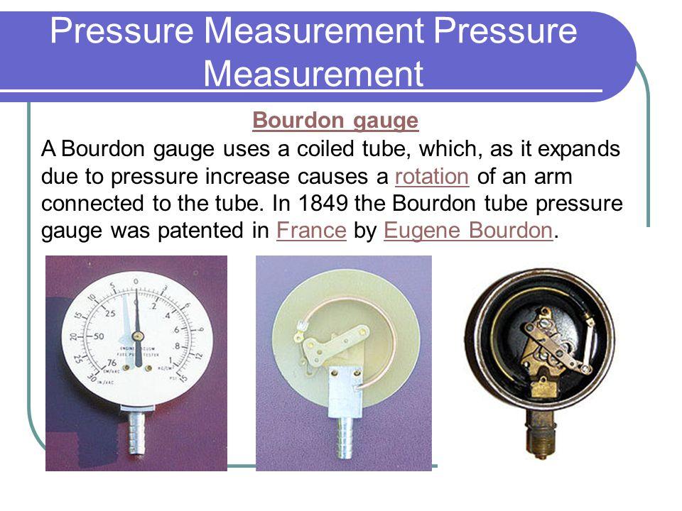 Pressure Measurement Pressure Measurement