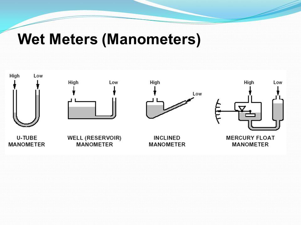 Wet Meters (Manometers)