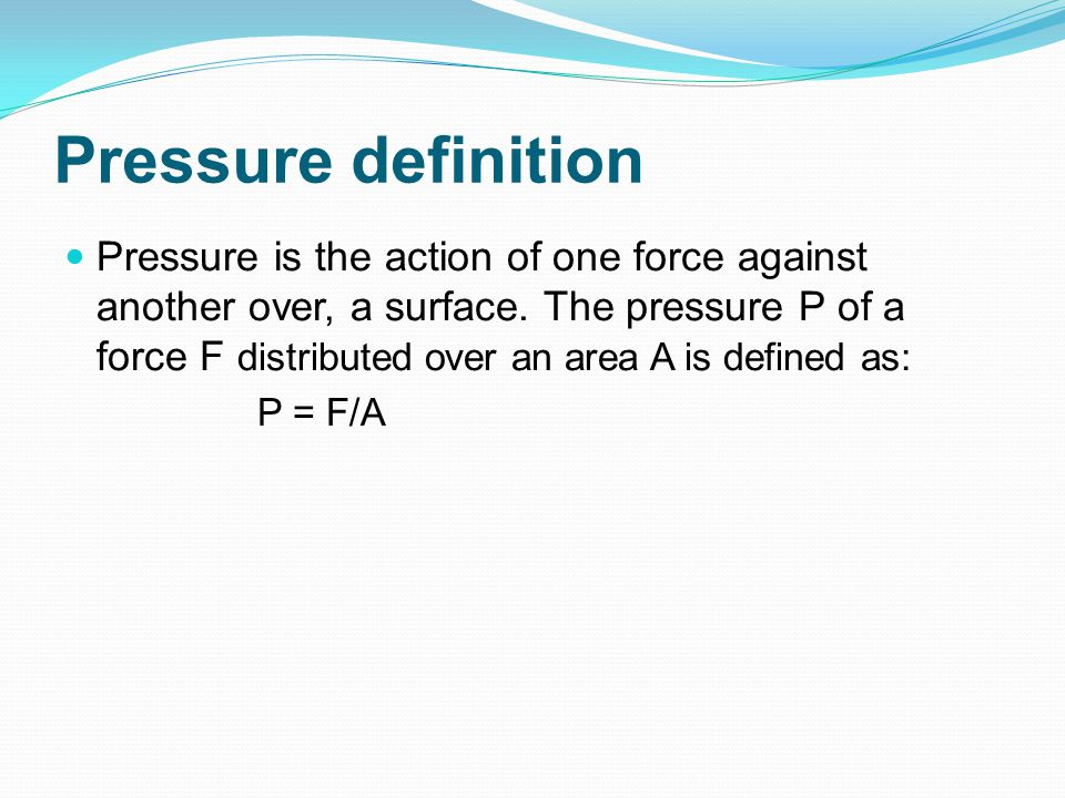 Pressure definition