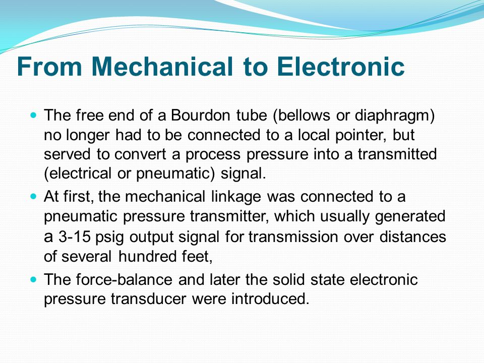 From Mechanical to Electronic
