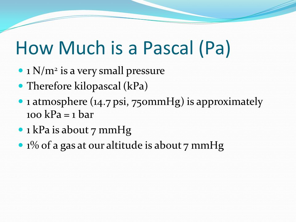 How Much is a Pascal (Pa)
