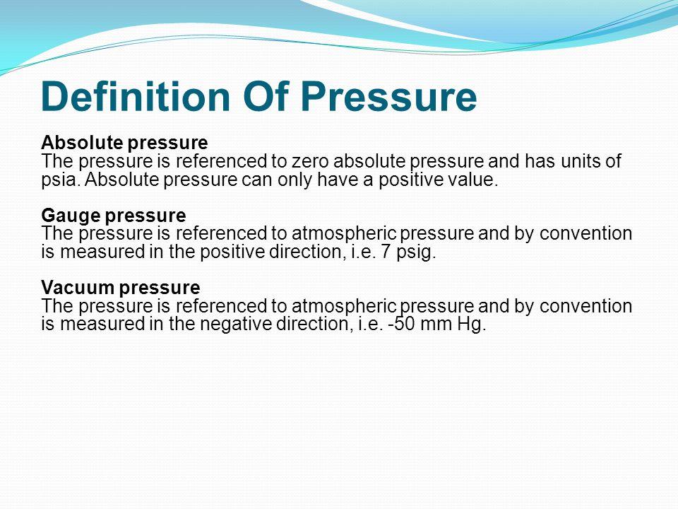 Zero Definition Pressure Measur...