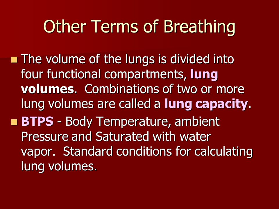 Other Terms of Breathing