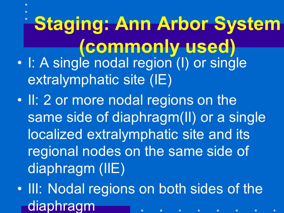 Staging: Ann Arbor System (commonly used)
