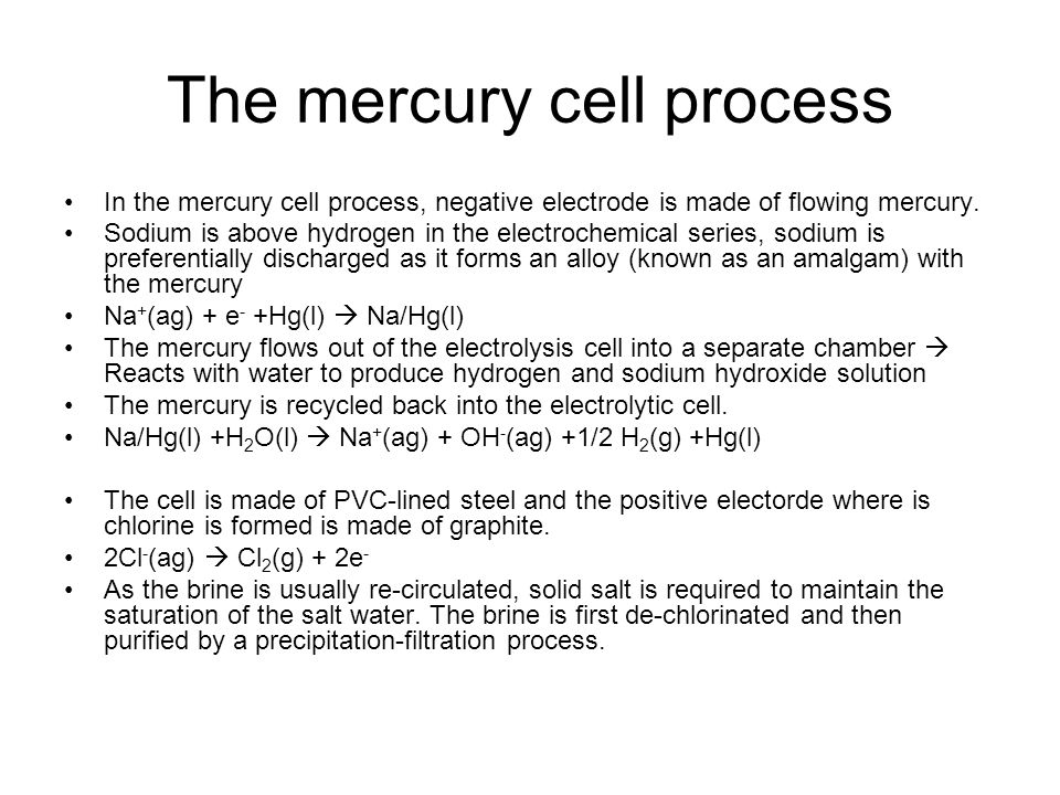 The mercury cell process
