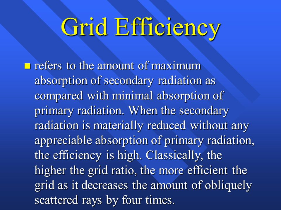Grid Efficiency