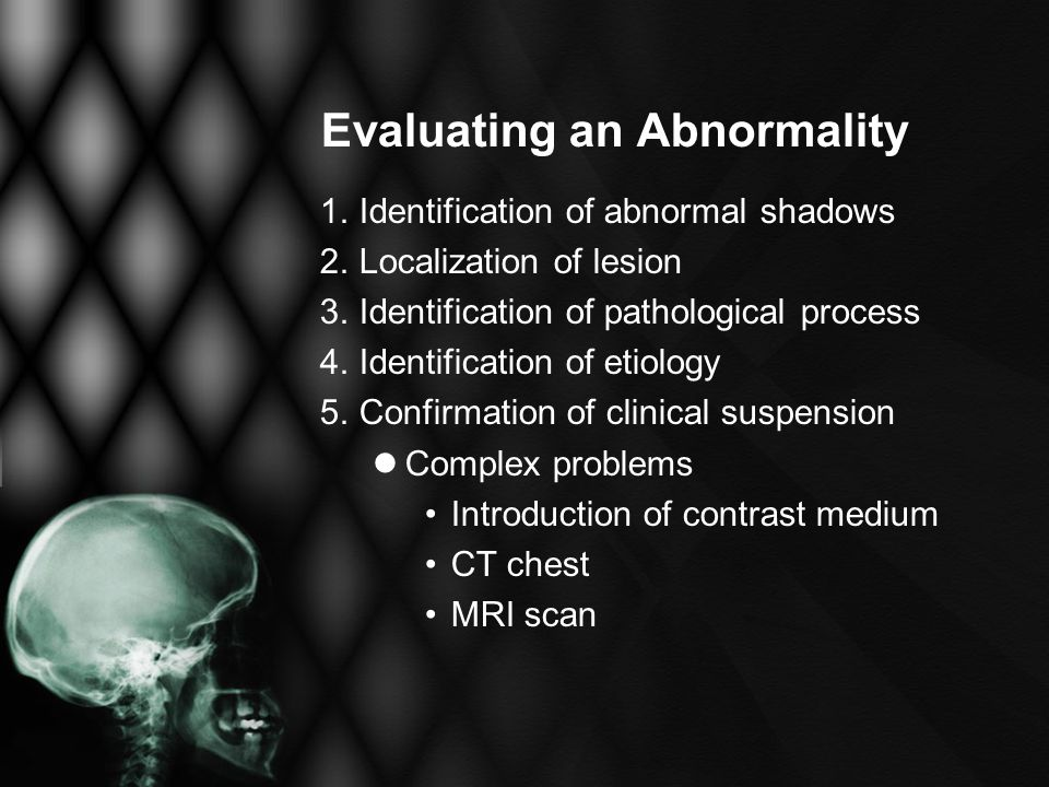 Evaluating an Abnormality