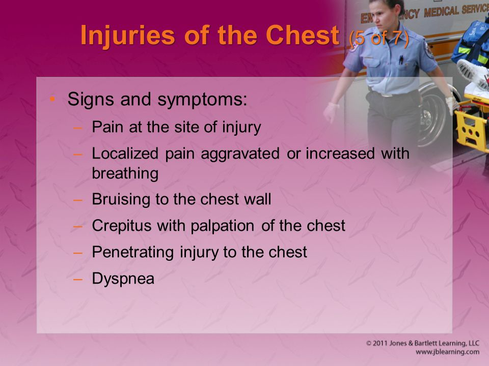 Injuries of the Chest (5 of 7)
