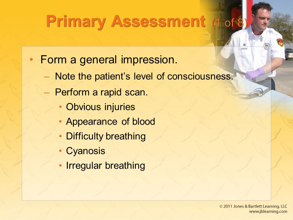 Primary Assessment (1 of 8)