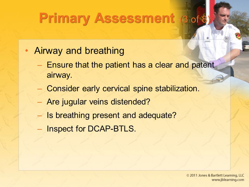 Primary Assessment (3 of 8)
